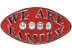 We Are Family Lapel Pin Rhinestone