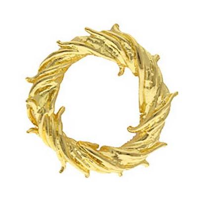 Jesus Crown of Thorns Pin Gold