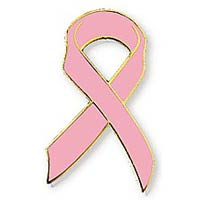 Pink Breast Cancer Ribbon Pin