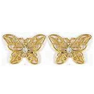 Gold Plated Butterfly Earrings
