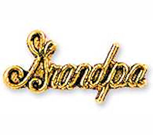 Grandpa Lapel or Hat Pin Gold