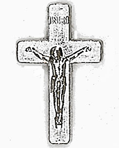 Silver Crucifix Cross Pins 3/4 inch (Pkg of 25)
