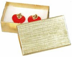 Gold Foil Pin Pin or Earrings Gift Box