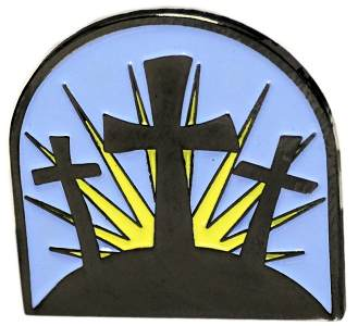 Easter Triple Cross Pin Black Nickel Finish