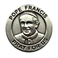 Pope Francis Pray for Us Pewter Lapel Pins