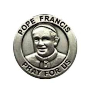 Pope Francis Pewter Lapel Pins