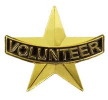 Volunteer Star Gold Lapel Pin
