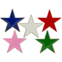 Red, Blue or Pink Stars Lapel Pins