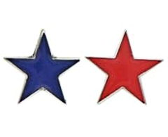 Red & Blue Star Lapel Pins