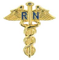RN Nursing CADUCEUS Lapel PIN