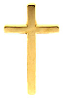 Gold Christian Cross Lapel Pin