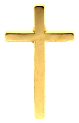 Gold Cross Pin High Quality Gold Plated