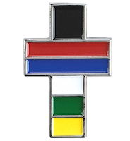 Colors of Salvation Cross Pin