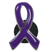Purple Awareness Ribbon Pins Faith Hope Carded