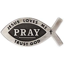 Pray Fish Pin - Trust God (Pkg of 12)