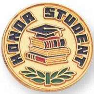 Honor Student Pin Gold