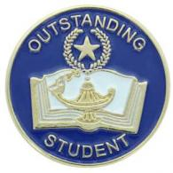 outstanding student pin gold