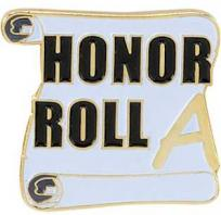 School Honor Roll Scroll Pin