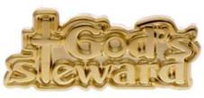 God's Steward Pin Gold