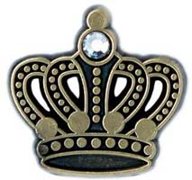 King's Crown Pin Antique Gold