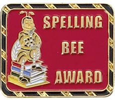 Spelling Bee Award Pin