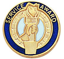 SERVICE AWARD Enamueled Lapel Pin