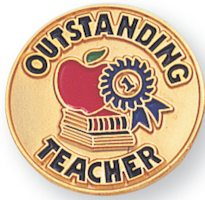 Outstanding Teacher Award Pin