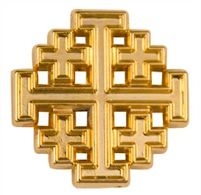 Jerusalem Cross Pin Gold Plated - Quality