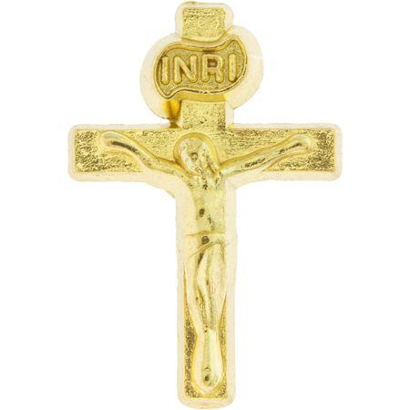 Gold Crucifix Lapel Pins