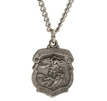 St. Michael Pendant Pewter Police, Military