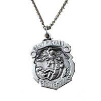 St. Michael Pewter Medal Pendant