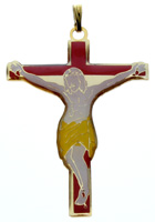 Crucifix with Enamel Pendant