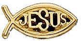 14 Karat Gold Ichthus, Jesus Fish Pin