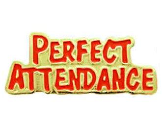 Perfect Attendance Award Pin