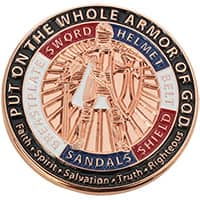 Armor of God Copper Enamel Pin