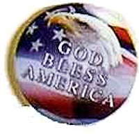 God Bless America Badge Pin Metal