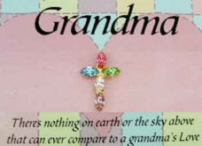 Grandma Rhinestone Cross for Mothers Day