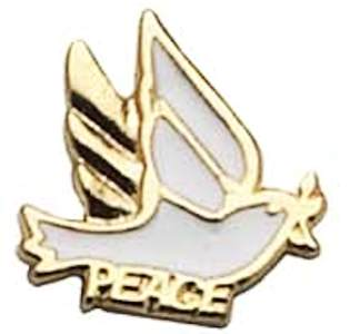 Peace Dove Pin with Olive Branch