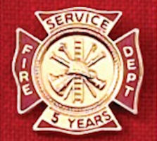 Firefighter Years of Service Award Pins