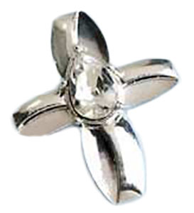 Savior's Tear, Jesus Infinity Cross Silver Pin