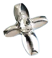 Savior's Tear Silver Infinity Cross Pin