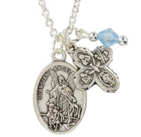 St. Michael Guardian angel, 4 Way Pendant