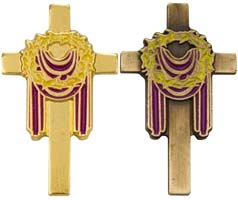 Easter Cross, Stole, & Crown Of Thorns Pin