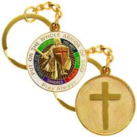 Holy Armor Of God Pray Cross Key Chain