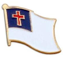 Christian flag pins