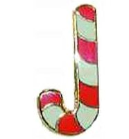 Candy cane Christian pin