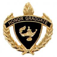 Honor Graduate Pin With Wreath Gold
