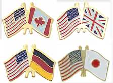 Country Flags Dual Pins