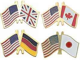 Friendship Country Flag Pins