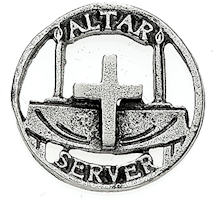 Church Altar Server Pin Pewter